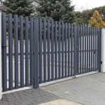распашные металические ворота