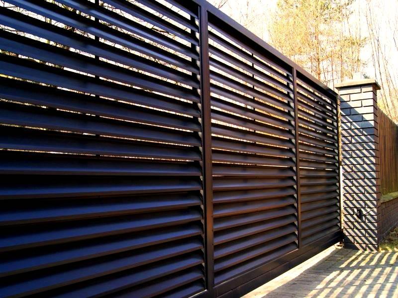 Забор-жалюзи Дельта