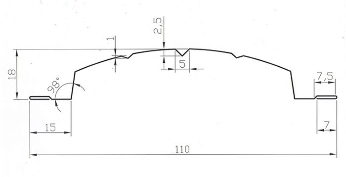 Схема штакетника Версаль